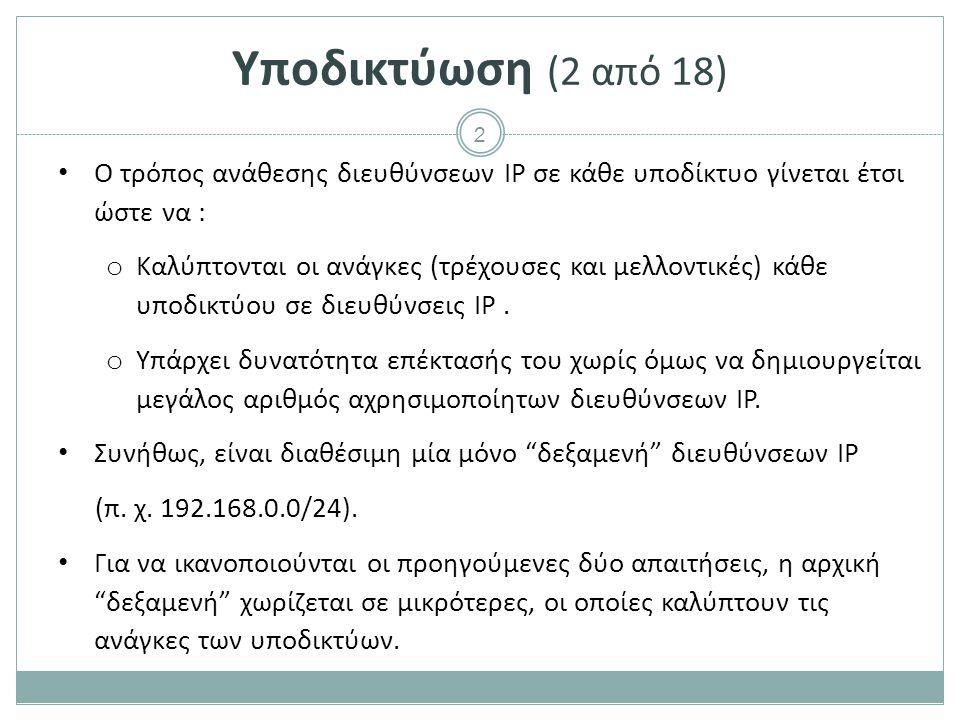 23 Δρομολογητές (5 από 38) Περιέχει o Μνήμη ανάγνωσης (ROM).