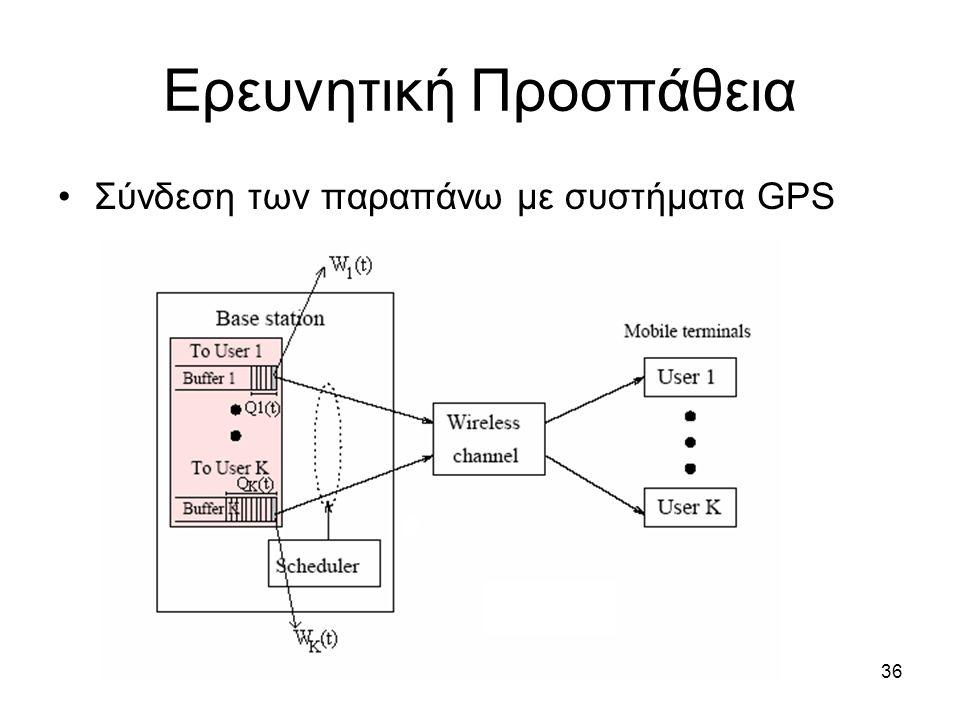 36 Ερευνητική Προσπάθεια Σύνδεση των παραπάνω με συστήματα GPS