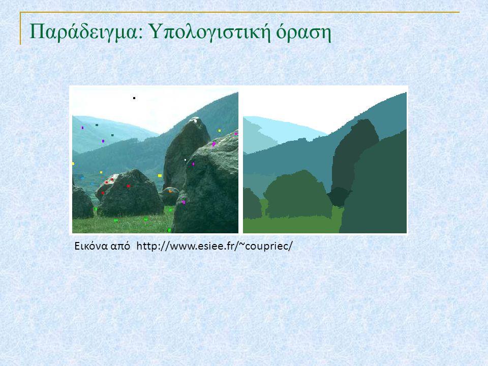 Παράδειγμα: Υπολογιστική όραση Εικόνα από http://www.esiee.fr/~coupriec/
