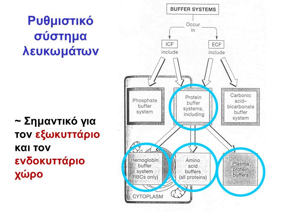 Ρυθμιστικό σύστημα λευκωμάτων ~ Σημαντικό για τον εξωκυττάριο και τον ενδοκυττάριο χώρο