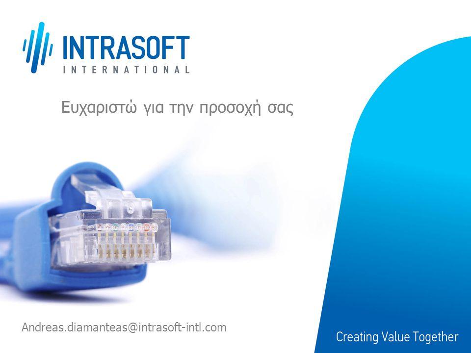 Ευχαριστώ για την προσοχή σας Andreas.diamanteas@intrasoft-intl.com