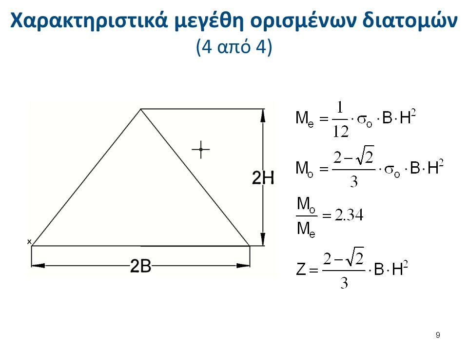Χαρακτηριστικά μεγέθη ορισμένων διατομών (4 από 4) 9
