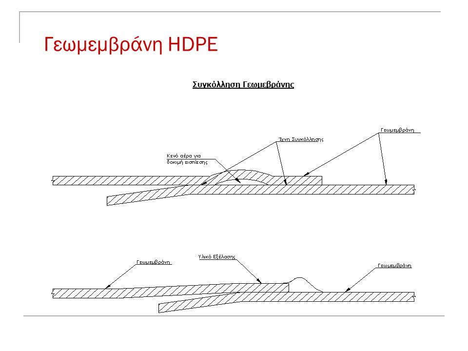 Γεωμεμβράνη HDPE Συγκόλληση Γεωμεβράνης