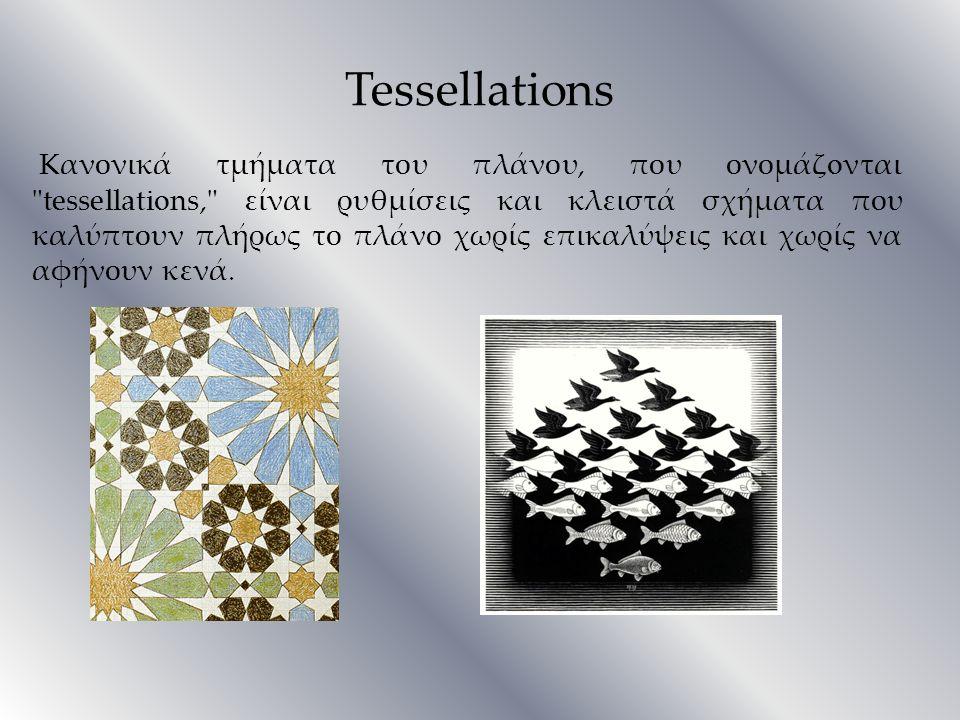 Tessellations Κανονικά τμήματα του πλάνου, που ονομάζoνται