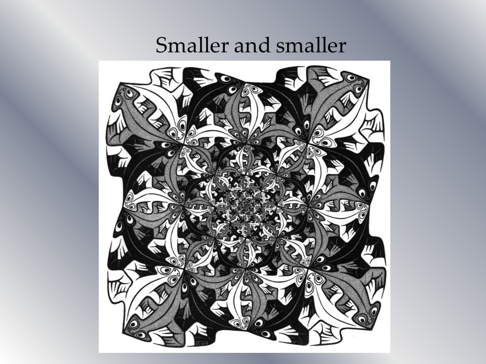 Smaller and smaller