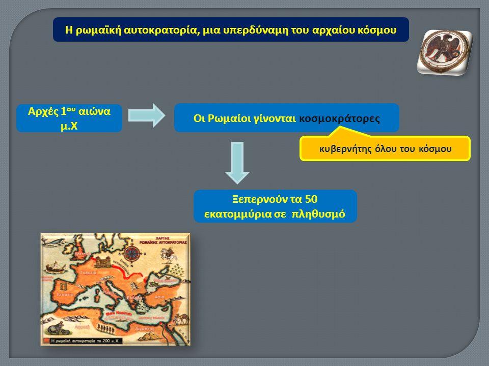 Η ρωμαϊκή αυτοκρατορία, μια υπερδύναμη του αρχαίου κόσμου http://users.sch.gr/divan/istoria_03/inter action.swf Ερωτήσεις - Α π αντήσεις του Γ.