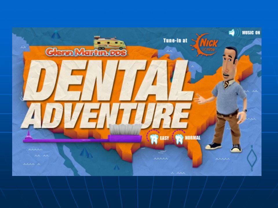 Γενικές πληροφορίες παιχνιδιού Το Dental Adventure δημιουργήθηκε από τον Αμερικάνο Glenn Martin Το Dental Adventure δημιουργήθηκε από τον Αμερικάνο Glenn Martin Είναι ένας προσομοιωτής άσκησης του οδοντιατρικού επαγγέλματος Είναι ένας προσομοιωτής άσκησης του οδοντιατρικού επαγγέλματος Μας δίνει την ευκαιρία να γνωρίσουμε τα οδοντιατρικά εργαλεία και τις τεχνικές που χρησιμοποιούνται στις διάφορες επεμβάσεις Μας δίνει την ευκαιρία να γνωρίσουμε τα οδοντιατρικά εργαλεία και τις τεχνικές που χρησιμοποιούνται στις διάφορες επεμβάσεις Μέσα από το παιχνίδι αντιλαμβανόμαστε τις επιθυμίες, τα δικαιώματα και την ικανοποίηση των ασθενών ανάλογα με το έργο μας Μέσα από το παιχνίδι αντιλαμβανόμαστε τις επιθυμίες, τα δικαιώματα και την ικανοποίηση των ασθενών ανάλογα με το έργο μας