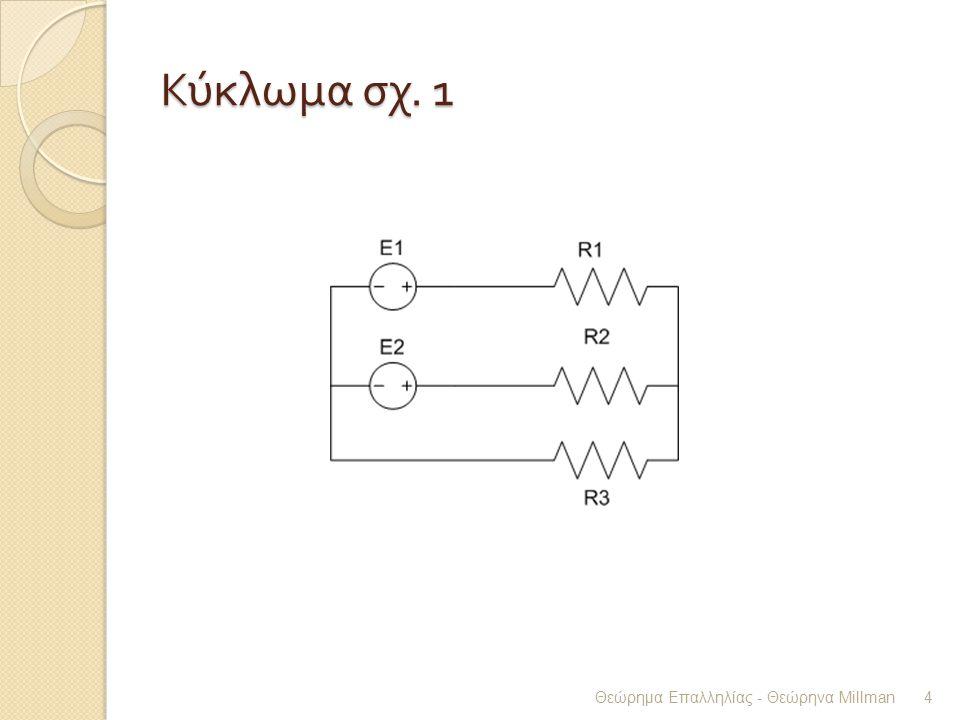 Κύκλωμα σχ. 1 Θεώρημα Επαλληλίας - Θεώρηνα Millman 4