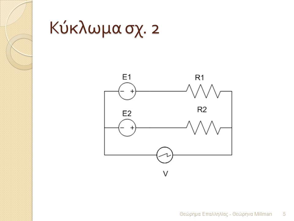Κύκλωμα σχ. 2 Θεώρημα Επαλληλίας - Θεώρηνα Millman 5