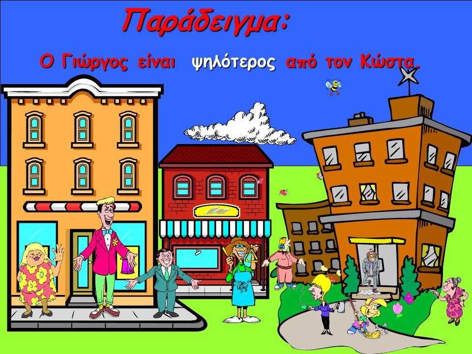 ΌλυμποςΠαραδείγματα: Ο Όλυμπος είναι το ψηλότερο / το πιο ψηλό βουνό της Ελλάδας.