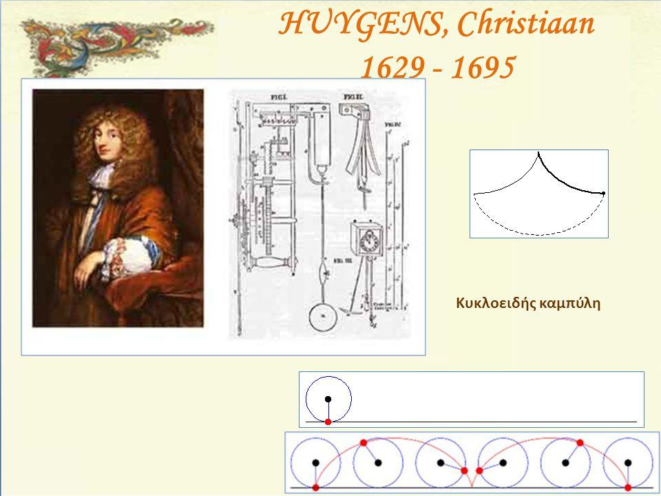 HUYGENS, Christiaan 1629 - 1695 Κυκλοειδής καμπύλη