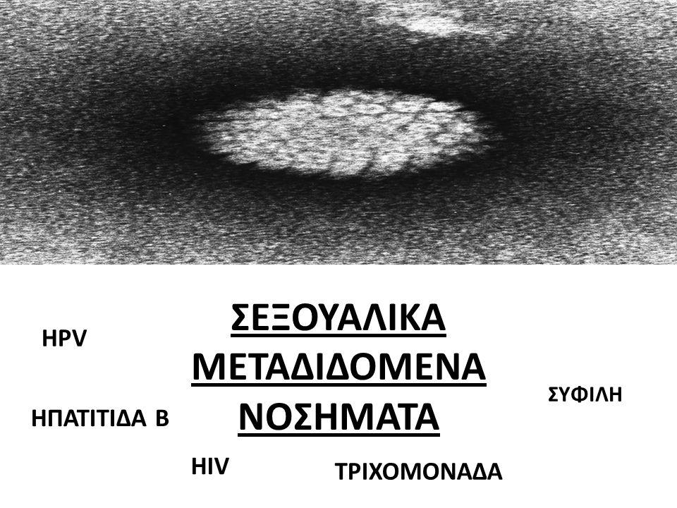 Σεξουαλικα μεταδιδομενα νοσηματα ΣΕΞΟΥΑΛΙΚΑ ΜΕΤΑΔΙΔΟΜΕΝΑ ΝΟΣΗΜΑΤΑ HIV HPV ΤΡΙΧΟΜΟΝΑΔΑ ΗΠΑΤΙΤΙΔΑ Β ΣΥΦΙΛΗ