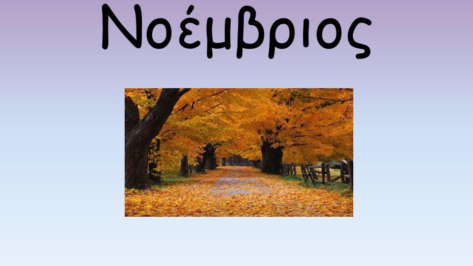 Εισαγωγή Ο Νοέμβριος, ή Νοέμβρης, ή Αεργίτες (ποντιακά), είναι ο 11 ος μήνας του έτους κατά το Γρηγοριανό ημερολόγιο και έχει 30 ημέρες.