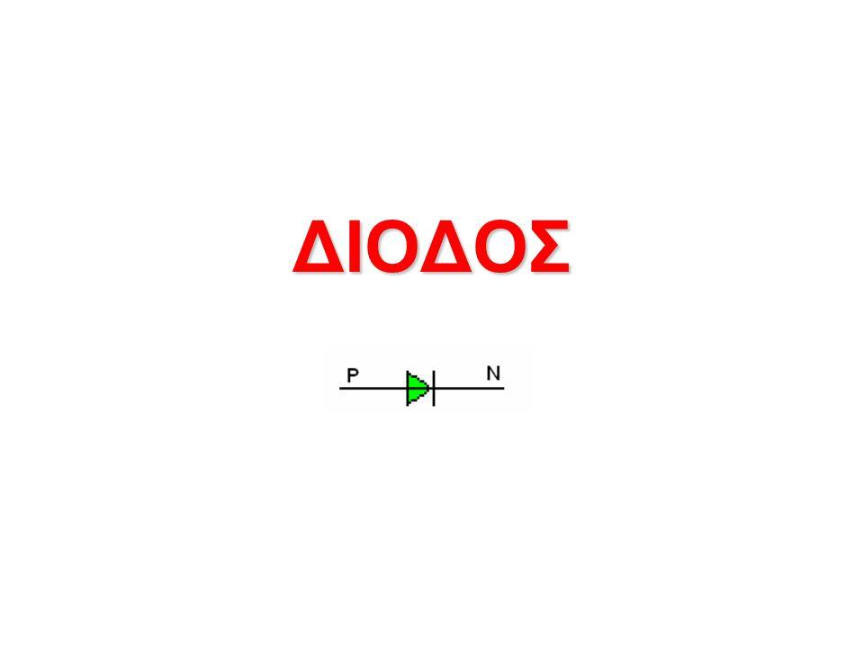 ΔΙΟΔΟΙ ΠΑΡΟΥΣΙΑΣΗ ΣΤΟΧΩΝ Με τη συμπλήρωση της ενότητας αυτής πρέπει να: Ορίζετε και σχεδιάζετε το σύμβολο της διόδου Αναγνωρίζετε τους ακροδέκτες της διόδου Ελέγχετε τις διόδους με το πολύμετρο Εφαρμογές των διόδων Χαράσσετε τη χαρακτηριστική καμπύλης τάσης – ρεύματος της διόδου και να περιγράφετε τη μορφή της.