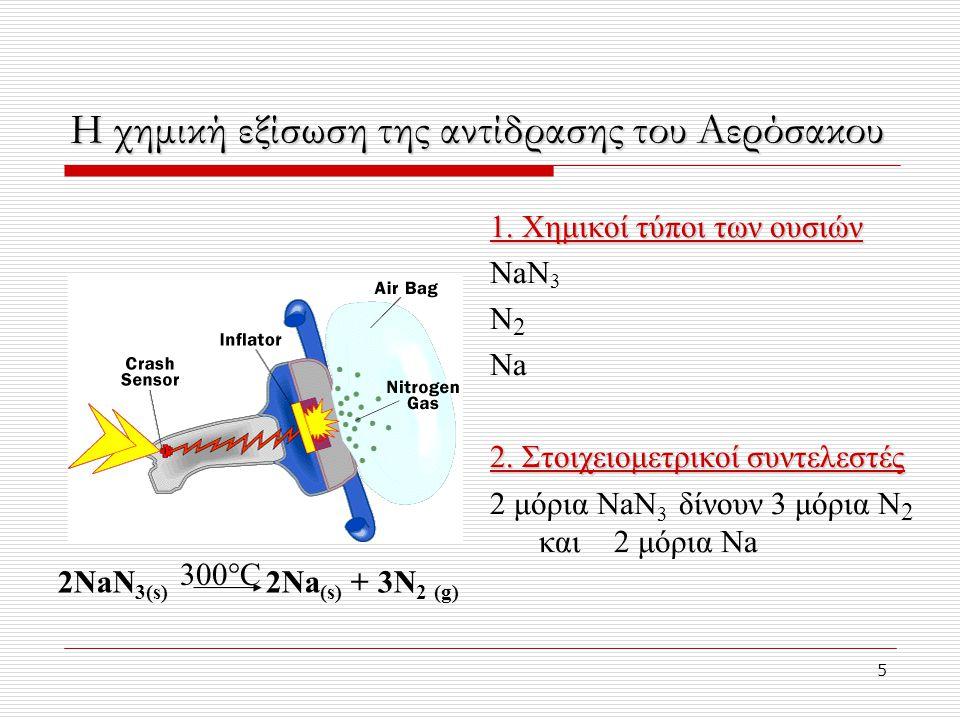 16 Ορισμός του mole  Mole ή γραμμομόριο (mol) ορίζεται ως η ποσότητα μιας δεδομένης ουσίας η οποία περιέχει τόσα μόρια ή τυπικές μονάδες όσα είναι ο αριθμός των ατόμων που υπάρχουν σε ακριβώς 12g άνθρακα-12 Αριθμός του Avogadro (N A ) N A = 6,022 x 10 23  Ο αριθμός ατόμων σε ένα δείγμα άνθρακα-12 που ζυγίζει 12 g ονομάζεται Αριθμός του Avogadro (N A ) N A = 6,022 x 10 23  1 6,022 x 10 23  1 mol μορίων = 6,022 x 10 23 μόρια  1 6,022 x 10 23  1 mol ατόμων = 6,022 x 10 23 άτομα  1 6,022 x 10 23  1 mol ιόντων = 6,022 x 10 23 ιόντα