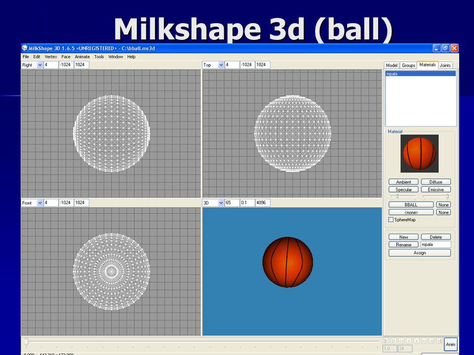 Milkshape 3d (ball)