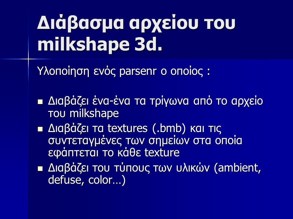 Διάβασμα αρχείου του milkshape 3d.