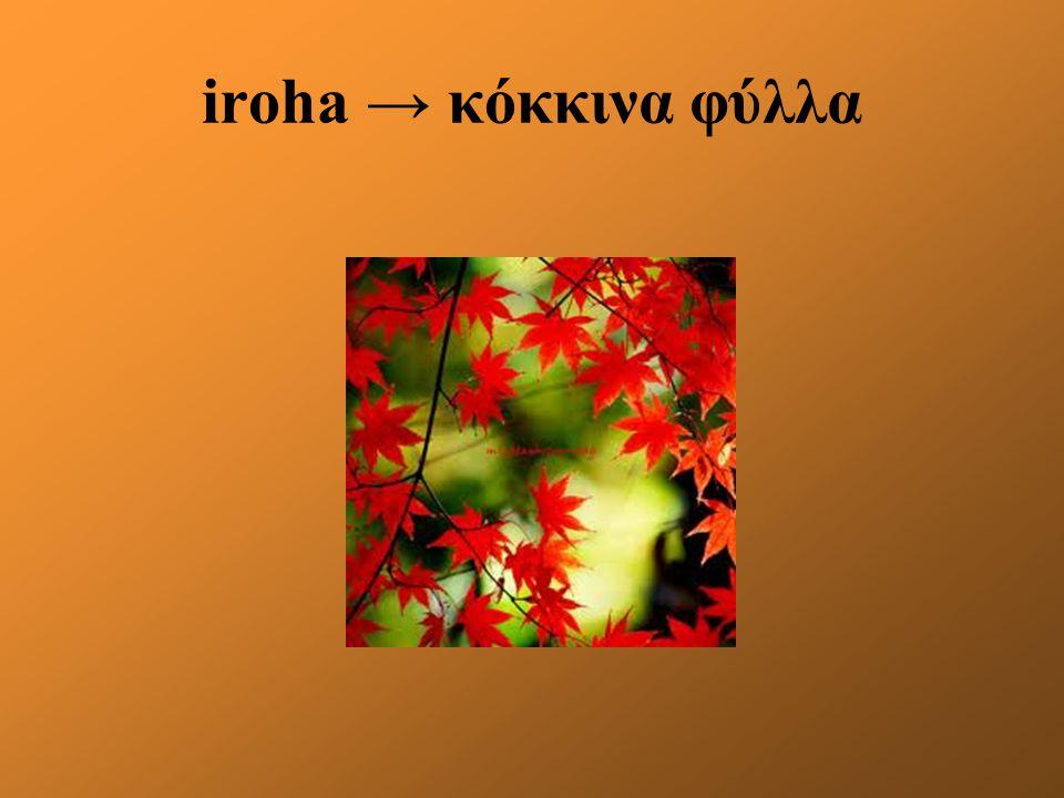 iroha → κόκκινα φύλλα