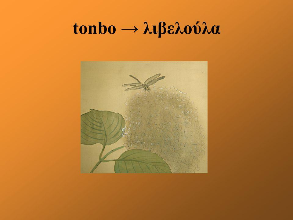 tonbo → λιβελούλα