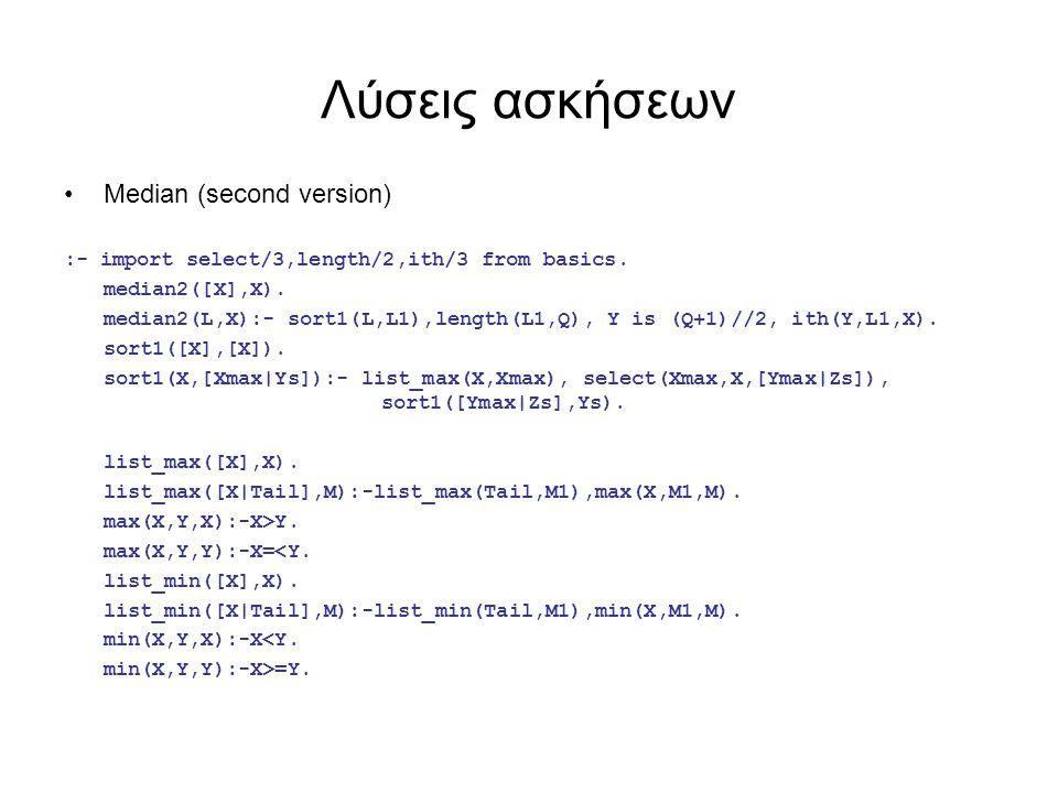 Λύσεις ασκήσεων Set Equality :- import member/2 from basics.