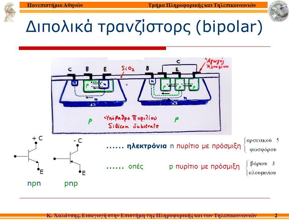 Διερμηνέας Γλώσσας Μηχανής (MICROPROGRAMMED INTERPRETER) Micro addressΜικροεντολήΣχόλια 0Β+0  ΜΑR; Read; MPC+1  MPCNext I  MDR 1 Β+1  B; MPC+MDR  MPC PC+1  PC; Decode 2 13  MPCLoad 3 15  MPCStore 4 17  MPCAdd 5 19  MPCSub 6 21  MPCMult 7 38  MPCDiv 8 55  MPCJump 9 56  MPCJump Z 10 59  MPCJump msb 11 62  MPCJump sub 12 65  MPC Return 13 0 + MDR  MAR; Read ; MPC+1  MPCLoad: M  MDR 14 0+ MDR  A; 0+0  MPCMDR  Acc 15 0+MDR  MAR; MPC+1  MPCStore: M a  MAR 16 A+0  MDR; Write; 0+0  MPCAcc  M 17 0+MDR  MAR; Read; MPC+1  MPC Add: M  MDR 18 A+MDR  A; 0+0  MPCAcc + M  Acc 19 0+MDR  MAR; Read; MPC+1  MPCSub: M  MDR 20 A- MDR  A; 0+0  MPCAcc-M  Acc 21 …………………Mult … ………………… …..