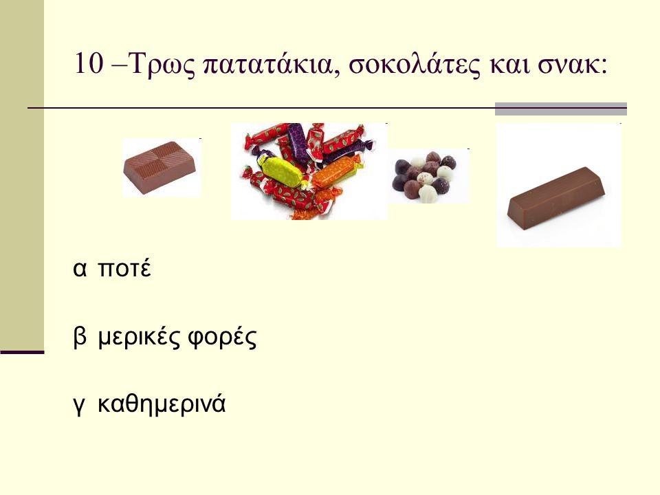 10 –Τρως πατατάκια, σοκολάτες και σνακ: αποτέ βμερικές φορές γκαθημερινά