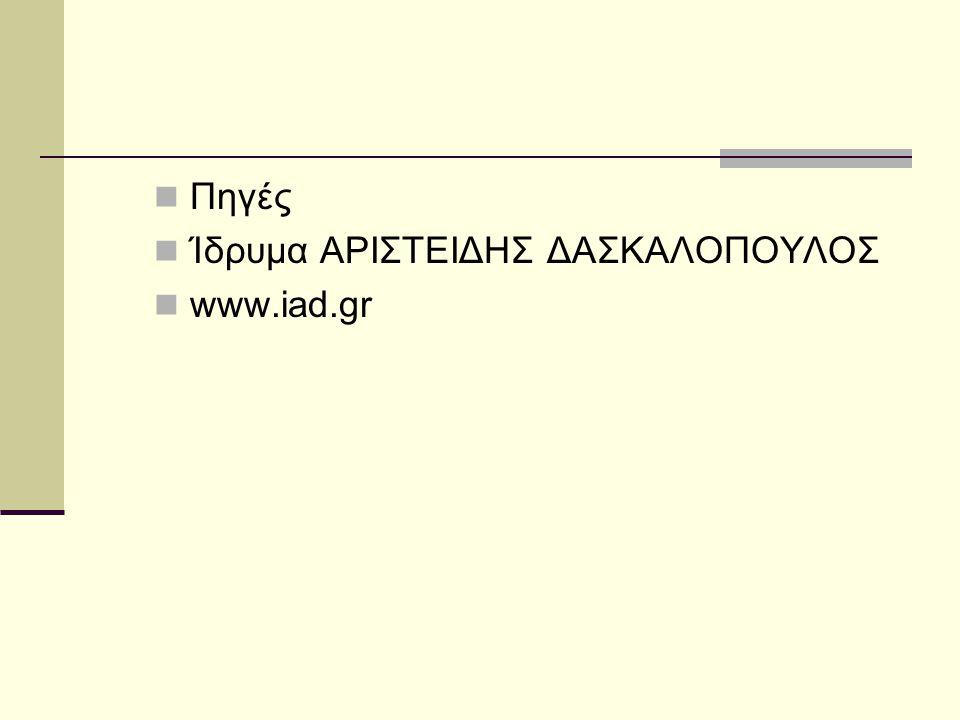 Πηγές Ίδρυμα ΑΡΙΣΤΕΙΔΗΣ ΔΑΣΚΑΛΟΠΟΥΛΟΣ www.iad.gr
