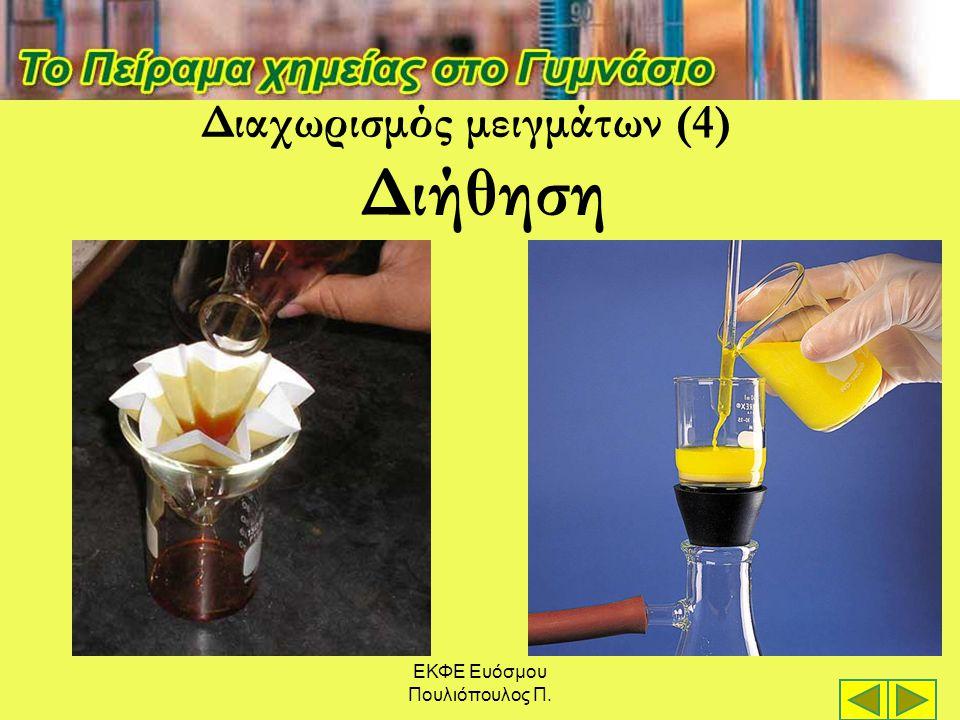 ΕΚΦΕ Ευόσμου Πουλιόπουλος Π. Διήθηση Διαχωρισμός μειγμάτων (4)