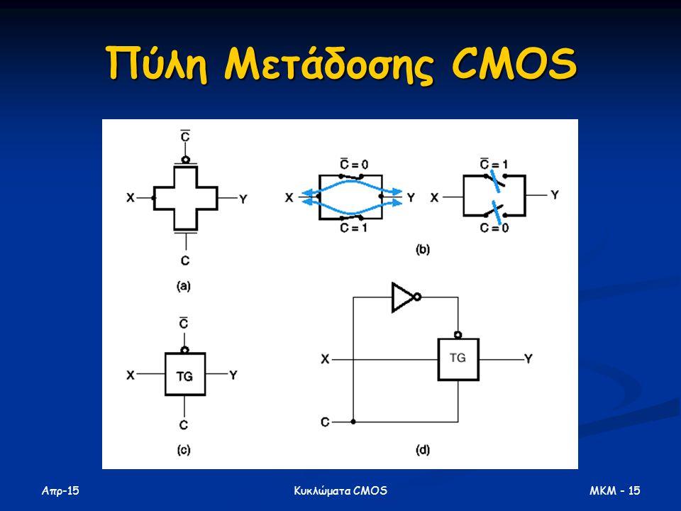 Απρ-15 MKM - 15Κυκλώματα CMOS Πύλη Μετάδοσης CMOS