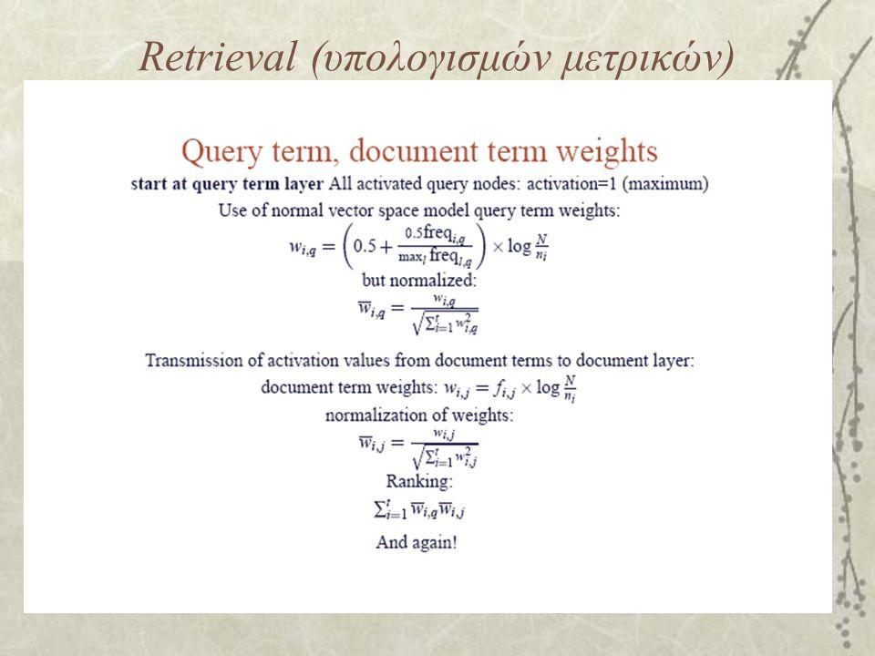 Retrieval (υπολογισμών μετρικών)