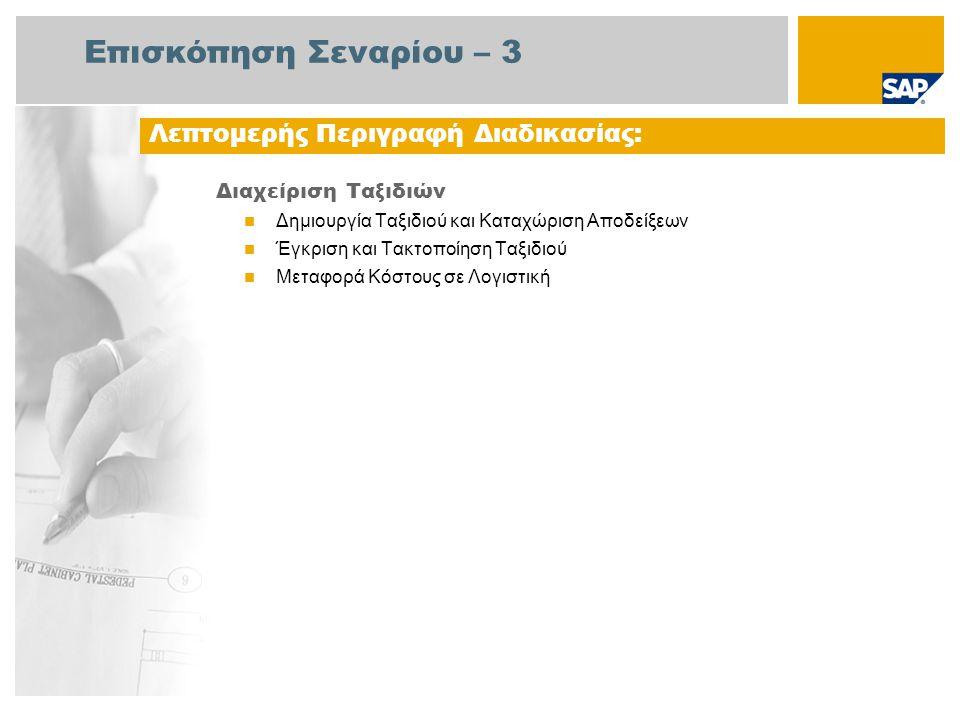 Διάγραμμα Ροής Εργασιών Διαχείριση Ταξιδιών Λογιστής Ταξιδιών Γεγονός Εργαζόμενος Ταξίδι Εγκρίθηκ ε; Δημιουργία Ταξιδιού και Καταχώριση Αποδείξεων Ταξιδιωτικά Έξοδα Πρέπει να Διαχειρ.