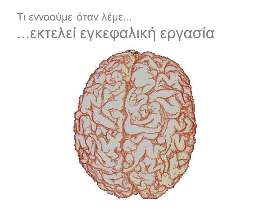 Τι εννοούμε όταν λέμε......εκτελεί εγκεφαλική εργασία