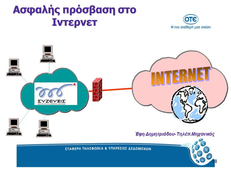 18 Ασφαλής πρόσβαση στο Ιντερνετ Έφη Δημητριάδου- Τηλέπ.Μηχανικός