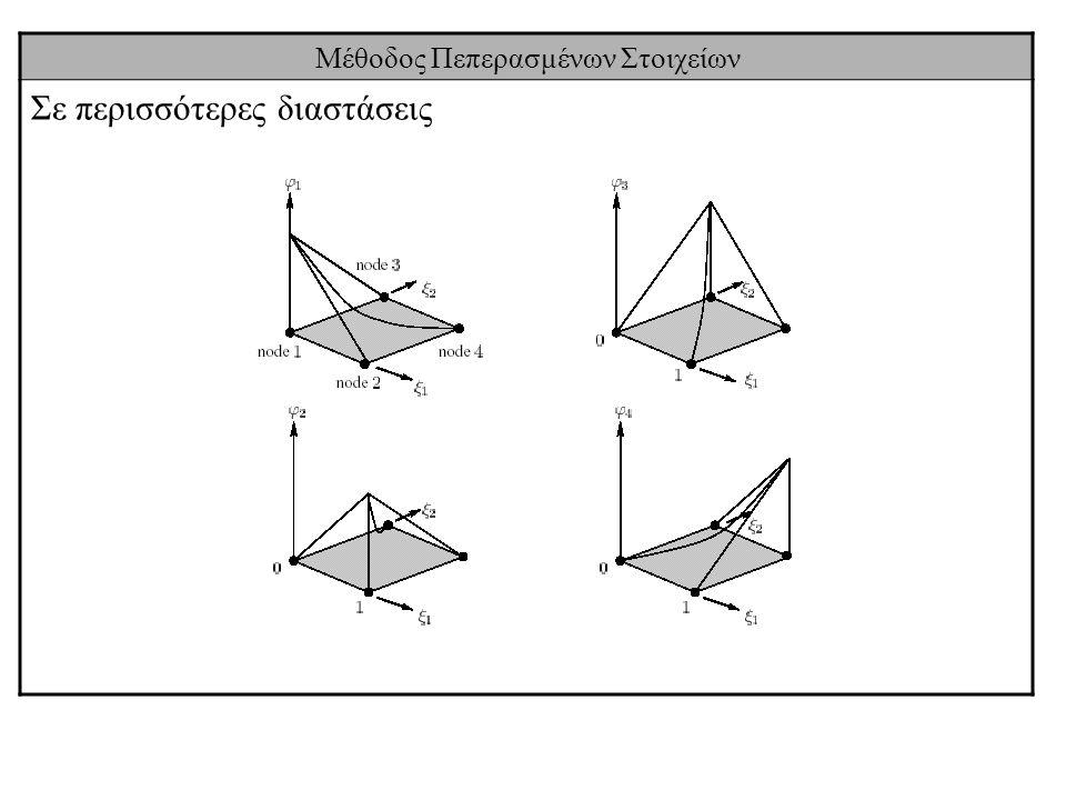 Μέθοδος Πεπερασμένων Στοιχείων Σε περισσότερες διαστάσεις