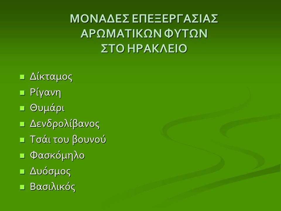 ΔΙΚΤΑΜΟΣ ( Έρωντας η στομαχόχορτο) Αυτοφύεται και καλλιεργείται Αυτοφύεται και καλλιεργείται μόνο στην Κρήτη μόνο στην Κρήτη Παρασκευή βερμούτ ( Μαρτίνι ) Παρασκευή βερμούτ ( Μαρτίνι ) Αφέψημα Αφέψημα Χρήση φαρμακευτική (πόνοι στομαχιού, επουλωτικό πληγών) Χρήση φαρμακευτική (πόνοι στομαχιού, επουλωτικό πληγών)