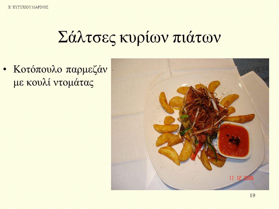 Χ΄΄ΕΥΤΥΧΙΟΥ ΜΑΡΙΝΟΣ 18 Σάλτσες κυρίων πιάτων Κοτόπουλο Ταντούρι με σάλτσα τζίτζερ