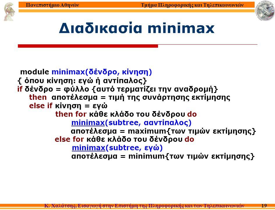 Τμήμα Πληροφορικής και Τηλεπικοινωνιών Κ. Χαλάτσης, Εισαγωγή στην Επιστήμη της Πληροφορικής και των Τηλεπικοινωνιών Πανεπιστήμιο Αθηνών 19 Διαδικασία