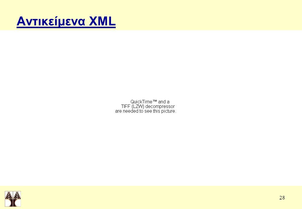 28 Αντικείμενα XML