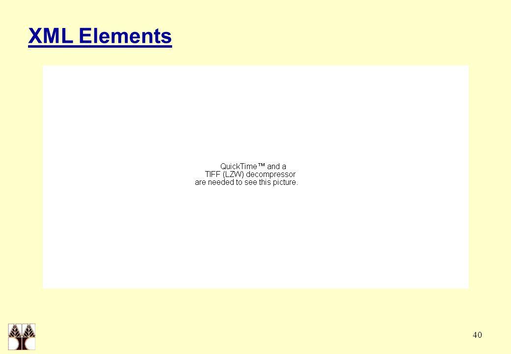 40 XML Elements