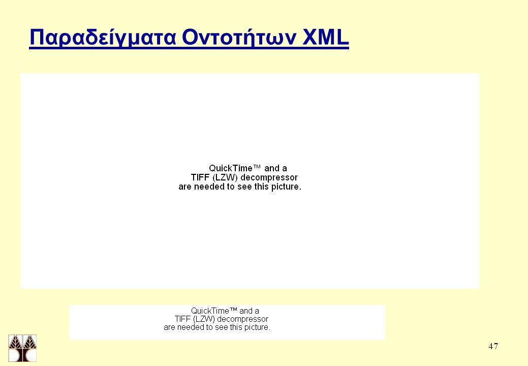 47 Παραδείγματα Οντοτήτων XML
