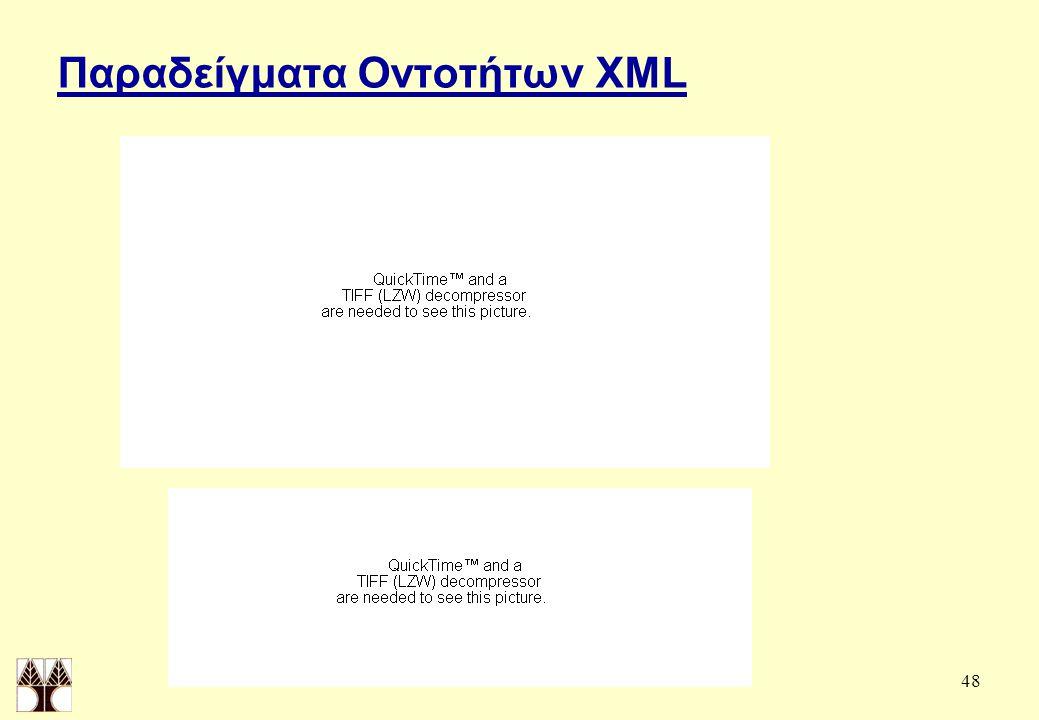 48 Παραδείγματα Οντοτήτων XML