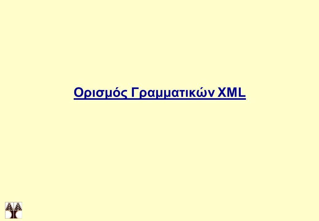 Ορισμός Γραμματικών XML