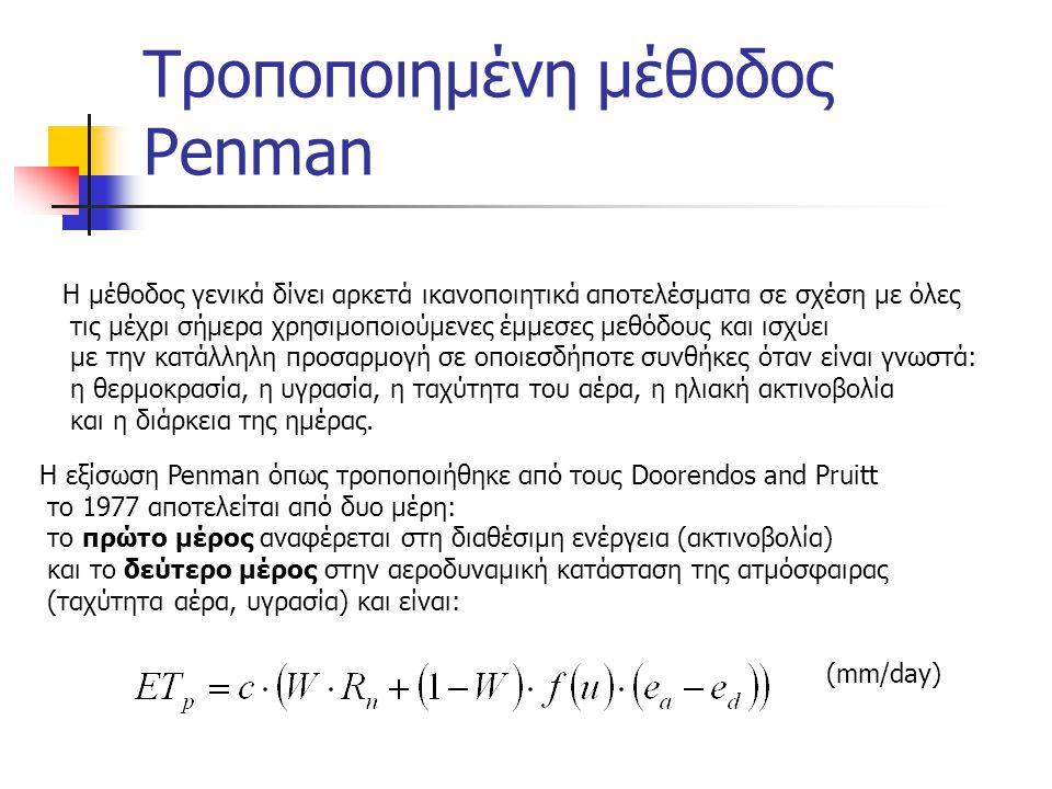 Πορεία υπολογισμών Penman 4/4