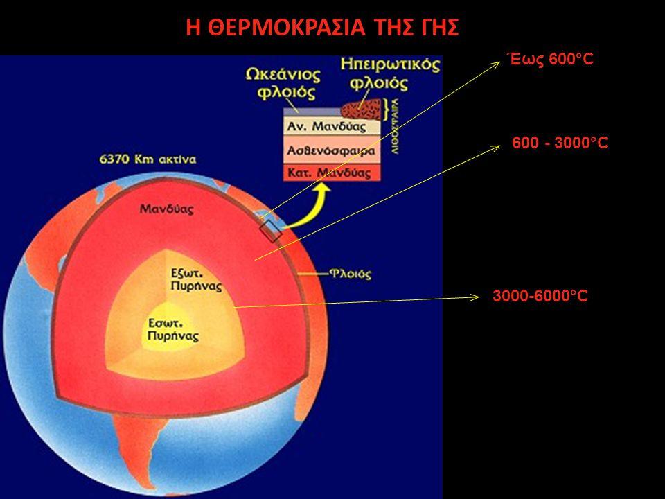 Φυσικές ποσότητες που αφορούν τις θερμικές διαδικασίες στο εσωτερικό της Γης είναι κατά κύριο λόγο η θερμοκρασία, η θερμοβαθμίδα, η ροή θερμότητας, η παραγωγή θερμότητας και η εντροπία.
