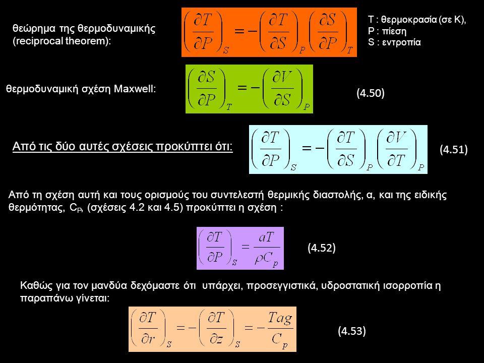Διάδοση Θερμότητας με Μεταφορά στο Εσωτερικό της Γης στο μανδύα και τον πυρήνα πραγματοποιείται μεταφορά τεράστιων ποσοτήτων υλικού (ρεύματα μεταφοράς) που μεταφέρουν συγχρόνως ποσότητες θερμότητας πολύ μεγαλύτερες από αυτές που διαδίδονται μόνο με αγωγή Συνέπεια των ρευμάτων αυτών είναι ότι ο ρυθμός μεταβολής της θερμοκρασίας (θερμοβαθμίδα) είναι πολύ μικρότερος.