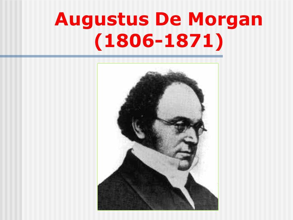 Augustus De Morgan (1806-1871)