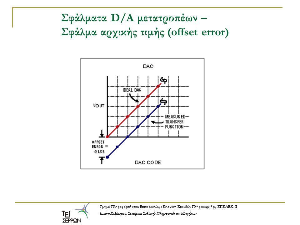 Σφάλματα D/A μετατροπέων – Σφάλμα αρχικής τιμής (offset error)