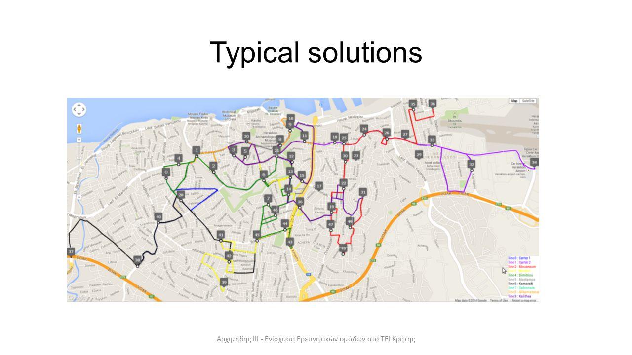 Typical solutions Αρχιμήδης ΙΙΙ - Ενίσχυση Ερευνητικών ομάδων στο ΤΕΙ Κρήτης