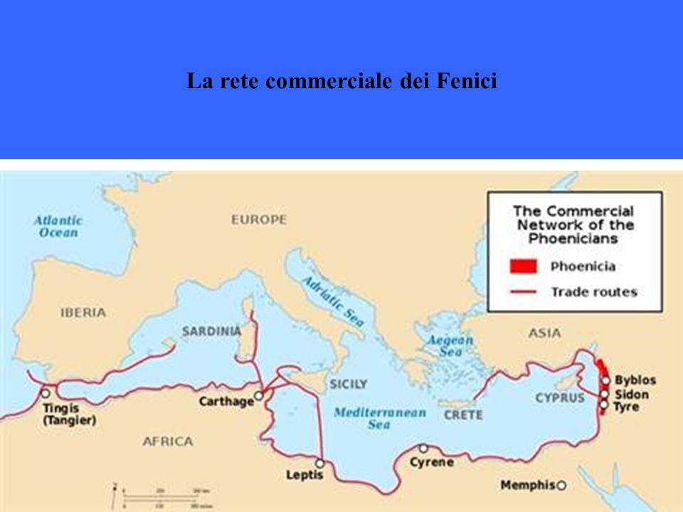 La rete commerciale dei Fenici