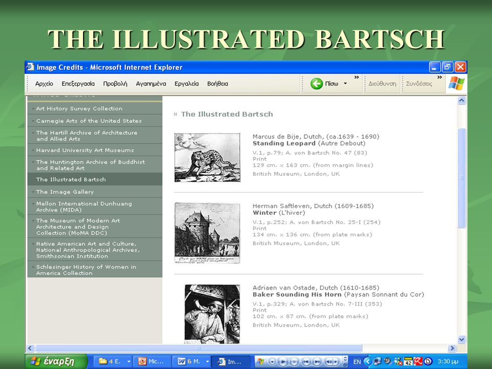 THE ILLUSTRATED BARTSCH